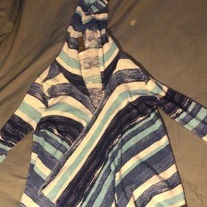 Cute blue and white Macy's cardigan